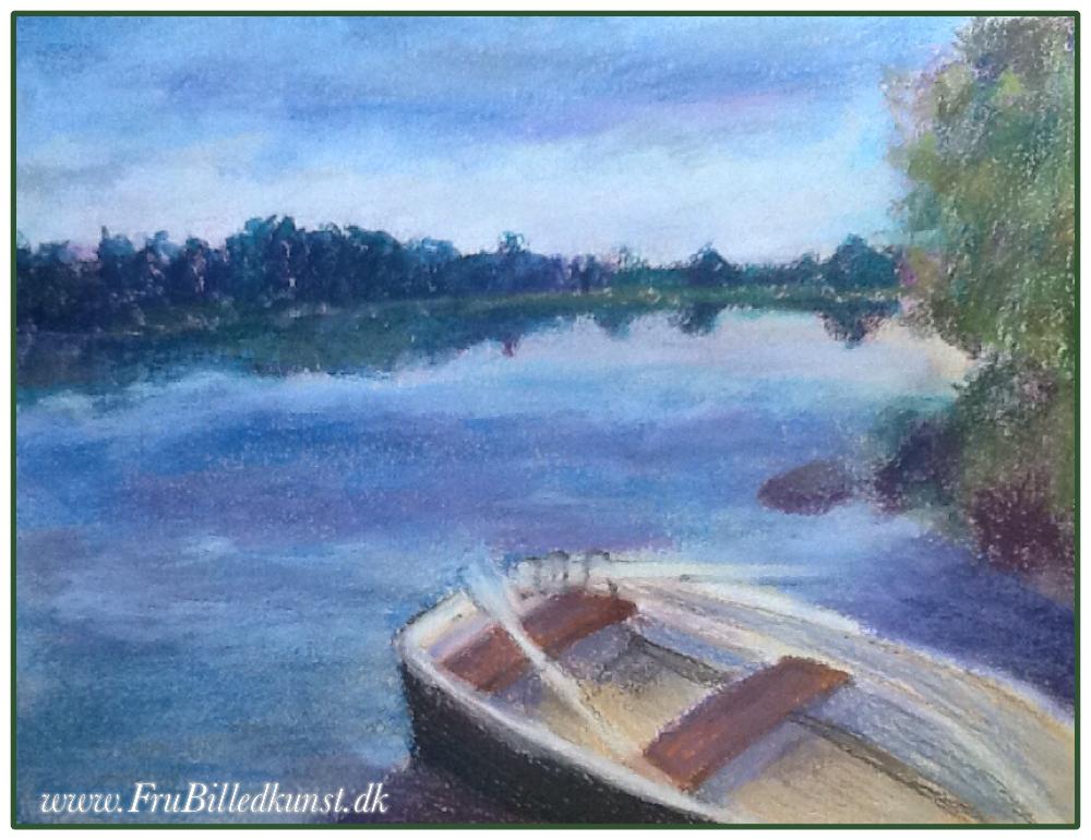 FruBilledkunst - båden ved søen