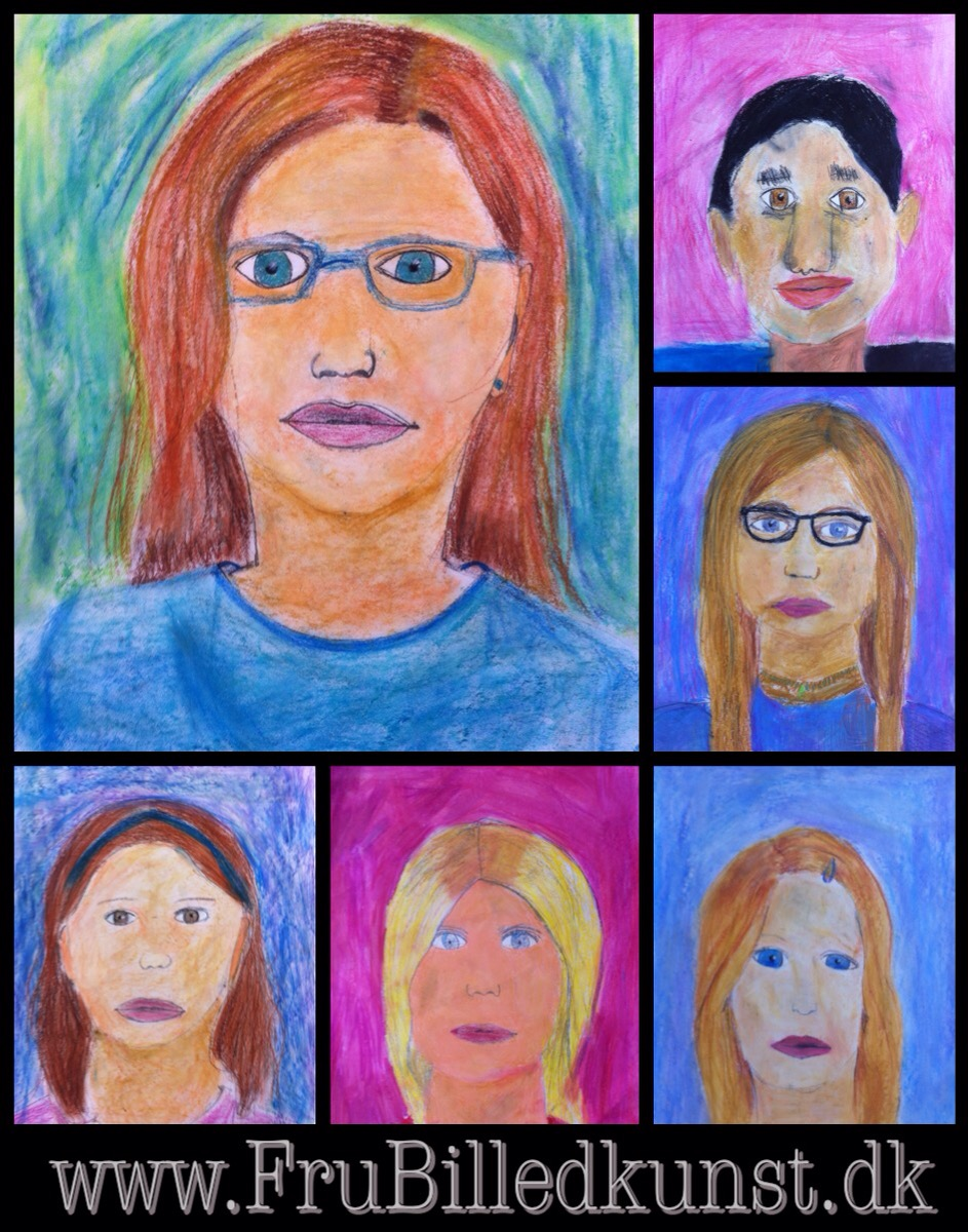 www.FruBilledkunst.dk - Self portraits - 3rd grade