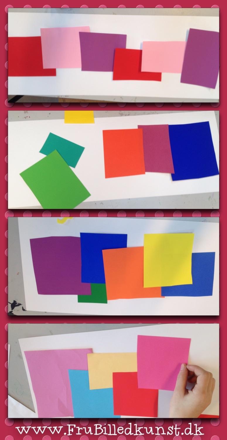 www.FruBilledkunst.dk - Matisse paper cut lesson - backgrounds