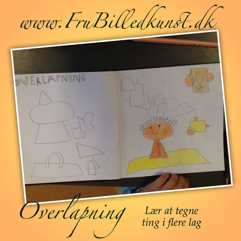 www.FruBilledkunst.dk - How to draw - overlapping
