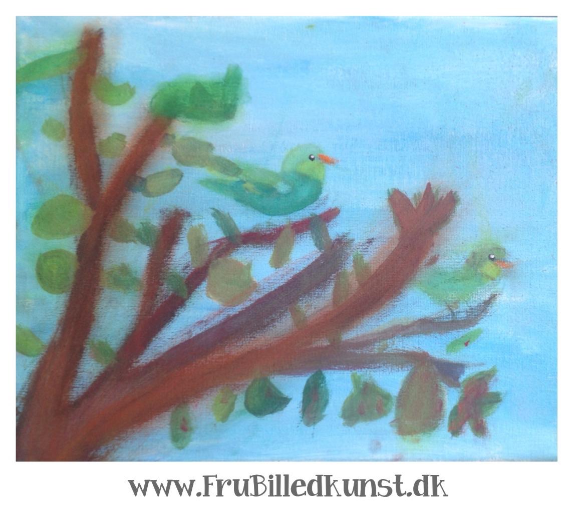 www.FruBilledkunst.dk - fuglemaleri